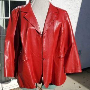 Vintage Maggie Barnes Leather Jacket - 4x